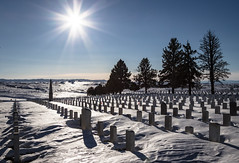 Shadows of the Past (ebhenders) Tags: custer cemetery little bighorn national battlefield solstice sun snow cold clear sky