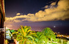 La Palma (free3yourmind) Tags: lapalma canary islands spain night nightsky stars starry clouds coudy lights city sea atlantic ocean palms balcony view panoramic