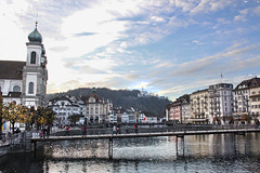 Lucerne on the Reuss (skipmoore) Tags: switzerland lucerne luzern reuss river