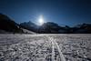 frozen lake (tinfrey) Tags: 2017 canonef1635mmf40lisusm canoneos6d blacklake blue frozen lake schwarzsee sky snow sun sunnyday sunstar wideangle cantonfribourg kantonfreiburg mountains switzerland