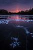 Light Pillar (Zoltán Győri) Tags: zoltangyori győrizoltán sun pillar lightpillar sunset mártély hungary magyarország ice frozen lake bubbles