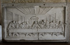 049-20160813_Abberley Norman Church-Worcestershire-Sanctuary-carving of last supper, thought to be part of a piscina (Nick Kaye) Tags: abberley worcestershire england church sculpture