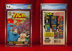 THE TICK LOCAL COMIC SHOP DAY NUMBER 1 2016 AUTOGRAPHED (vsndesigns) Tags: the tick pencil indie shocker gbjr toys with tie and tshirt zombie in a steel box fox promotional totally kids magazine 45 club spoon taco bell meal commercial eli stone ben edlund little wooden boy comic book merchandise rare limited edition 80s 90s collector museum naked super hero heroine funny comedy tv color thetick indoor surreal cartoon coffee mug ceramic cup black blue text poster illustration collection sketch cover white necpress people portrait round