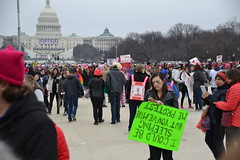 """""""I Could Be Sleeping..."""" (railsnroots) Tags: demonstrations first amendment womens march protest signs"""