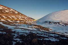 Snowy Hills on Mauna Kea (Raiatea Arcuri) Tags: maunakea snow hawaii sunset bluehour bigisland mountain hill