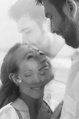 Alexander&Catherine. 02.11.16. Hikkaduwa. Sri - Lanka (orange_pacific) Tags: double exposure canon ef 50mmf14 wedding blackandwhite niceshot nice love lovestory ocean srilanka eyes happy happiness