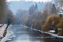 colourful winter (LiterallyPhotography) Tags: tübingen badenwürttemberg neckar deutschland bäume natur eis schnee altstadt häuser gebäude neckarinsel outdoor winter trauerweide äste himmel