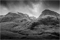 The Three Sisters (_Robert C_) Tags: highlands landscape otherkeywords scotland glencoe d800 sigma 2470mm bw