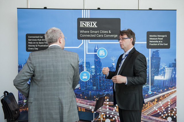 At the INRIX stand
