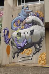 ride the poney (Pixeljuice23) Tags: italy streetart graffiti poney friendlyfire 2015 meetingofstyles pixeljuice lupimannari railporn kobrapaint