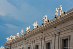 Vatican Building Detail (Artotem) Tags: travel italy vatican architecture europe statues traveler 2015