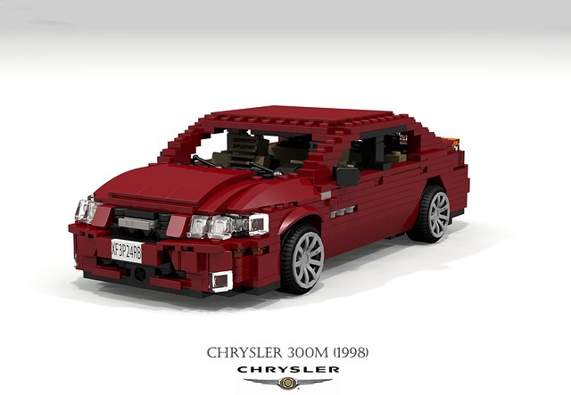 auto usa car america sedan us model lego stuck render m renault corporation concorde 1998 chrysler 300 amc saloon challenge 92 1990s 90s lhs cad lugnuts v6 povray moc 300m ldd miniland foitsop lego911 stuckinthe90s