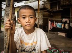 Young laos boy (Gerrykerr) Tags: travel people portraits asia southeastasia village laos mekong laungprabang
