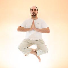 169/365: Flying Zen (haslo) Tags: portrait orange selfportrait self flying surreal olympus fantasy zen meditation external omd em1 flashes project365 115in2015
