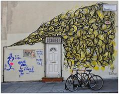 Graffiti (Kef, Ana Laurini), East London, England. (Joseph O'Malley64) Tags: uk greatbritain england streetart london wall graffiti mural paint britain spray british walls cans aerosol kef eastend eastlondon wallmural muralist annalaurini inequalitystreet