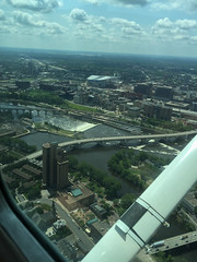 13409_G (Jamie D Hutt) Tags: mississippi flying downtown minneapolis cessna cessna172 stonearchbridge n4808f