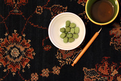 In The Zen... (Mirage008) Tags: mirage008 wasabi nuts wooden pen green tea carpet prints patterns studying project final spicy burn calm zen meditate working zone stuff rainbow mug canoneos1100d canon japanese inspiration