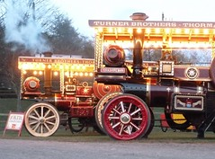 Lighting Up the Night! (Terry Pinnegar Photography) Tags: tractor museum lights traction engine steam beamish garrett countydurham 3313 burrell showmans 33486 yorkshireman ad8787 queenofgreatbritain ah6813