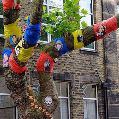 Hebden Bridge: It's That Sort of... (thephilosopherstoned) Tags: flowers pets tree dogs hippies colorful candid yorkshire streetphotography documentary garland abandon colourful relaxed flowerpower easygoing laidback treedecoration hebdenbridge copulation doggiestyle growingwild documentaryphotography freespirits uploaded:by=flickstagram instagram:photo=1044253947593946183311672236