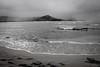 Copy of Kauai b&w30-2 (chiarina2016) Tags: kauai hawaii island beach monotone blackandwhite chiarinaloggia stormyseas waves trails hiking surf hanalei hanaleibeach sea ocean balihai