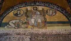 Christ Pantocrator - mosaic at the Hagia Sophia, Constantinople (Istanbul) (Alona Azaria) Tags: mosaic turkey ἁγία σοφία konstantinopoli ayasofia ayasofya sony slta35 sal55200 byzantine empire christ constantinople