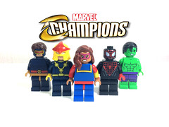 Marvel's Champions (Web-Slinger) Tags: marvel champions lego comic now 20 all new different cyclops ms nova miles morales spiderman totally awesome hulk