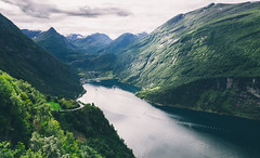 Geiranger Fjord (Nycee4) Tags: norway nature landscape geiranger fjord green water light