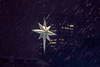 Star Shining in the Dark Snowy Night (A Great Capture) Tags: downtown christmas decoration hanging snowy snow snowing nighttime night nathanphillipssquare toronto star ig