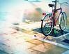 Another Rainy day.. (kallchar) Tags: rain rainy night nighttime bicycle transport streetphotography street colors olympusomdem10 flickr art bike tree locked agreatcapture