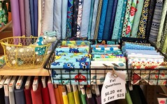 A most beautiful fabric shop in North Hobart.