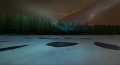 Fairy dance (Tore Thiis Fjeld) Tags: nature norway forest lake winter ice snow night longexposure le light frost frozen panorama outdoors stars sky nikon d800 samyang 14mm fairy fairydance