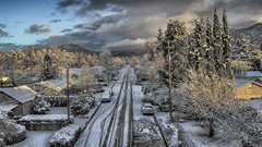 After The Storm (snaphappyd) Tags: hdr winter snow oregon dji drone p3s photomatix landscape overhead ariel sunrise