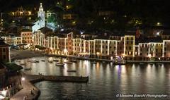 Portofino (GE) (Massimo.Bracchi) Tags: portofino night notte esposizione nikon d500 mare sea luce light blue dark ship barca piazza chiesa