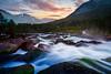 Downstream (Heli Hansen) Tags: norge norway waterfall landscape sognogfjordane sunset mountains longexposure lee