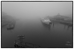 Heavy fog over Lewes Canal (stevebfotos) Tags: water lewes fog delaware unitedstates us