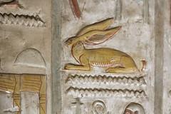 Detail of a Hare Hieroglyph (Chris Irie) Tags: hieroglyph egypt temple seti i abydos