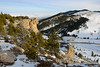 Two Overhangs (kevin-palmer) Tags: steamboatpoint bighornmountains bighornnationalforest wyoming winter january snow cold evening nikond750 tamron2470mmf28 cliffs ledge overhang highway14 road