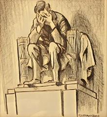 Bill Mauldin's 'Lincoln Weeping' (Renee Rendler-Kaplan) Tags: itscometothis justmyopinion billmauldin kennedyassassination drawing archives today reneerendlerkaplan sorrow confusion protests future trumptweets january 2017 women minorities inauguration lgbtqcommunity