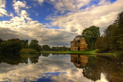 """Reflection Pond (Tony Shertila) Tags: europe britain england cheshire lyme estate """"20150926142444"""" disley gbr geolat5333812556 geolon205499395 geotagged handley """"national trust"""" manor architecture unitedkingdom outdoor """"reflection pond"""" lake water weather day clouds cloudy sky tree"""