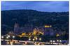 Château de Heidelberg (Francis =Photography=) Tags: allemagne germany deutschland heidelberger badewurtemberg schloss heidelberg pont castel forteresse fortress ville city town 2016 chateaux canon600d sigma1770 vieilleville poselongue longexposure bluehour heurebleue blauestunde forest forêt châteaudeheidelberg brücke extérieur château