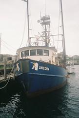 764277T-R1-021-9 (aspininaspiritcar) Tags: ocean sea summer sky film beach field ferry 35mm boat marthas vineyard sand rocks minolta massachusetts atlantic marthasvineyard