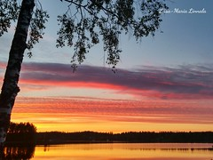 2015-06-13-23-45-34_deco~2 (liisamaria.linnala) Tags: sunset nature silhouette finland phonepic lakeview lgg3