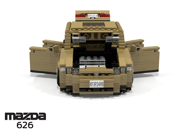 auto car japan sedan japanese model lego stuck g render 1991 mazda ge saloon challenge 92 1990s 90s cad lugnuts povray 626 moc capella ldd miniland lego911 stuckinthe90s