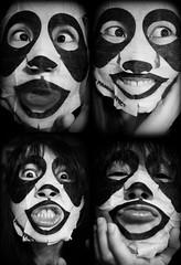 June 27, 2015 - Selfies (Pumpkin Chief) Tags: life portrait people bw selfportrait face self funny panda taiwan daily sp playful facepack selfie sonynex3n nex3n