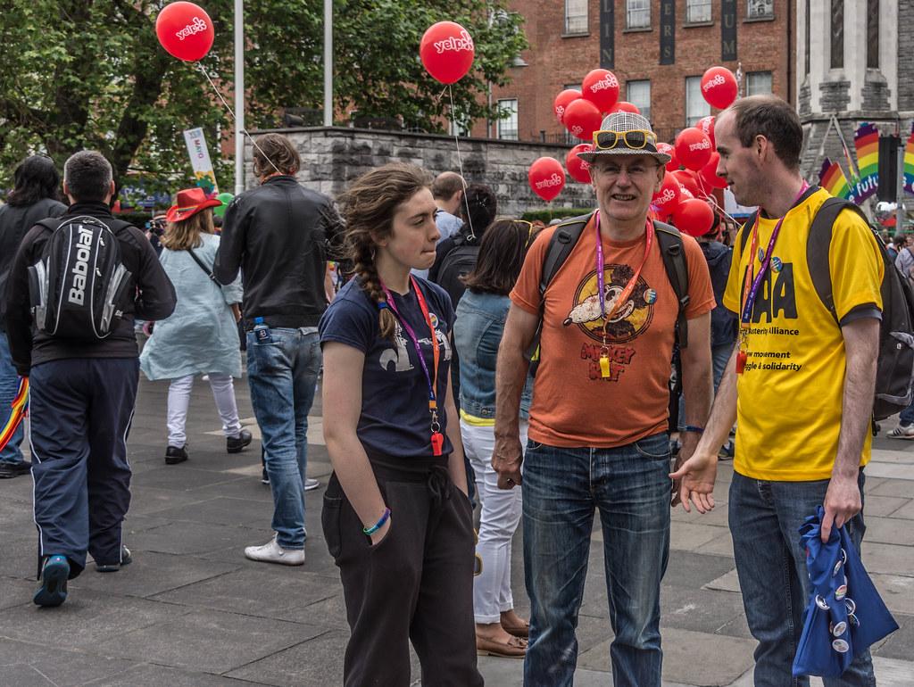 DUBLIN 2015 GAY PRIDE FESTIVAL [BEFORE THE ACTUAL PARADE] REF-106251