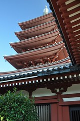 Pagoda of Senso-ji (Thorsten Reiprich) Tags: city summer urban travelling sunshine japan temple asia day capital religion buddhism   asakusa spiritual kanto  kannon tokio honshu