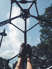 194/365 (moke076) Tags: park atlanta portrait sky net feet me oneaday playground mobile self georgia shadows tiger cellphone cell rope equipment climbing photoaday onitsuka asics esther 365 lefevre cabbagetown peachy iphone selfie 2015 project365 365project vsco vscocam