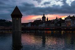 Sunset, Lucerne (Ken Barley) Tags: sunset switzerland luzern lucerne rhinecruise