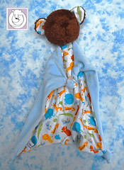 Bear Blanky (Polar Bear Creations Dolls) Tags: cozy natural blankie babyshower blanky babytoy childfriendly naturaltoy blankettoy