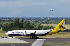 Monarch Tech (G-SMAN) (Tangoman11) Tags: check birmingham tech d aircraft aviation c engineering repair maintenance monarch airbus tug airlines stripped scrap tow a330 bhx gsman